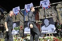letecké neštěstí v Jaroslavli - pietní akt