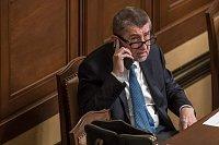 Jednání o důvěře vlády v Poslanecké sněmovně 16. ledna v Praze. Andrej Babiš