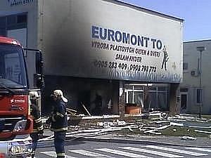 V závodě na plasty Euromont ve Topoľčanech explodovala nastražená výbušnina