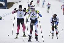 Markéta Davidová a Jessica Jislová - Závody SP v biatlonu