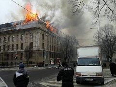 V Košicích v úterý hořel finanční úřad