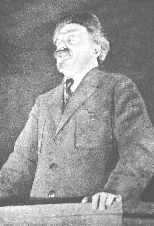 Lev Davidovič Trockij při projevu v březnu 1926