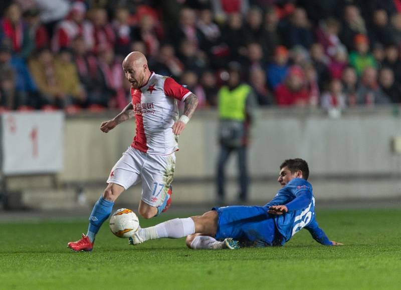 SK Slavia Praha vs. KRC Genk. Na snímku Miroslav Stoch.