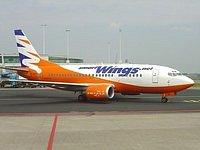 Letadlo nízkonákladové značky Smart Wings, která patří Travel Service