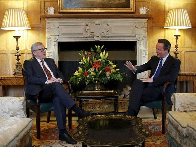 V pondělí povečeřeli britský premiér David Cameron a šéf Evropské komise Jean-Claude Juncker.
