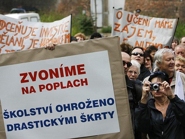 Demonstrace školských odborů