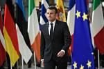 Francouzský prezident Emmanuel Macron na summitu EU v Bruselu