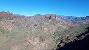 Gran Canaria. Vyhlídka La Degollada de las Yeguas. Podle místních připomíná Grand Canyon v USA.