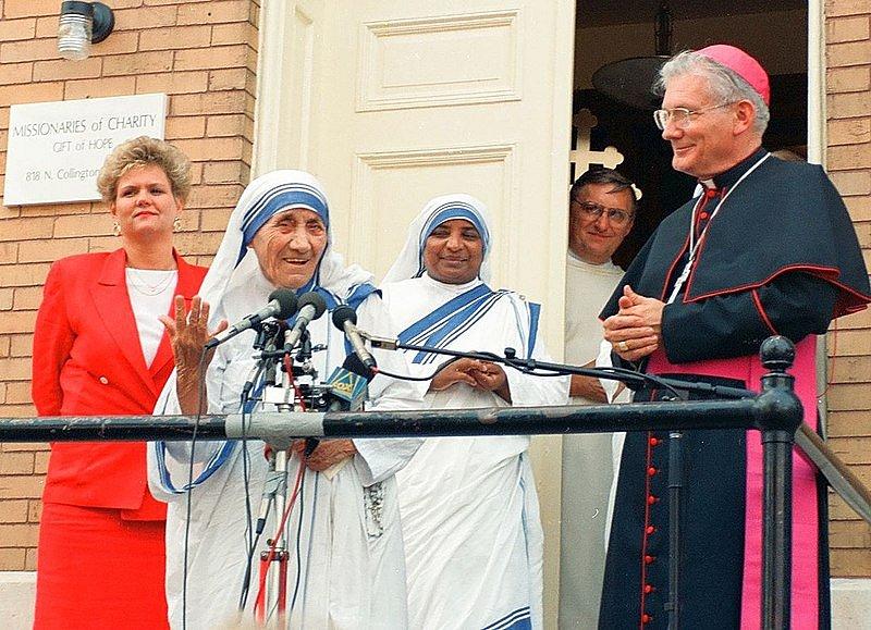 Matka Tereza v Baltimoru ve státě Maryland v srpnu 1992.