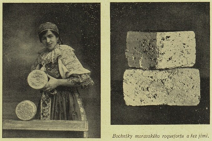 Reklama moravského Roquefortu z roku 1918
