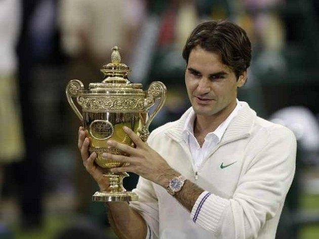 Sedminásobný wimbledonský šampion Roger Federer.