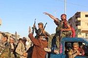 Vojáci v syrském městě Rakká