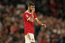 Záložník Manchesteru United Bruno Fernandes zahodil penaltu.