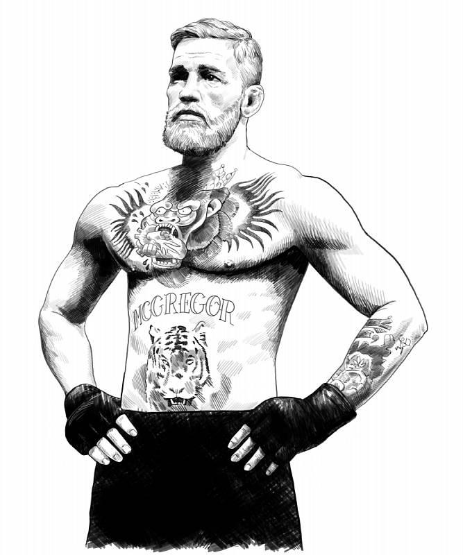 Svým tetováním je známý i irský bojovník Conor McGregor.