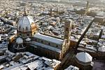 Letecký pohled na toskánské město Florencie.