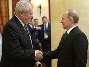 Miloš Zeman a Vladimír Putin