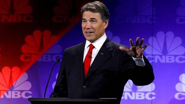 Kandidát na amerického prezidenta Rick Perry.