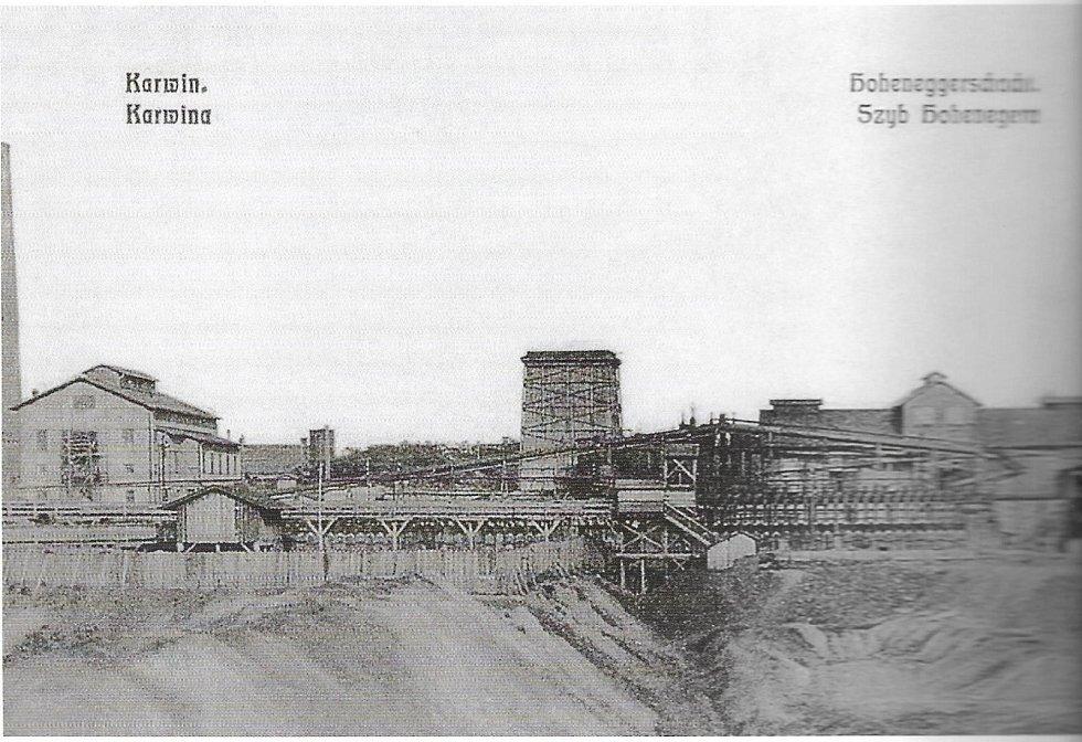 Celkový pohled na Důl Hohenegger (kolem roku 1890).