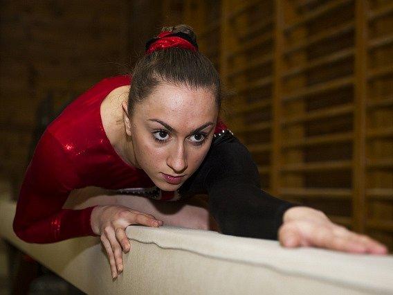 Gymnastka Romana Majerechová.