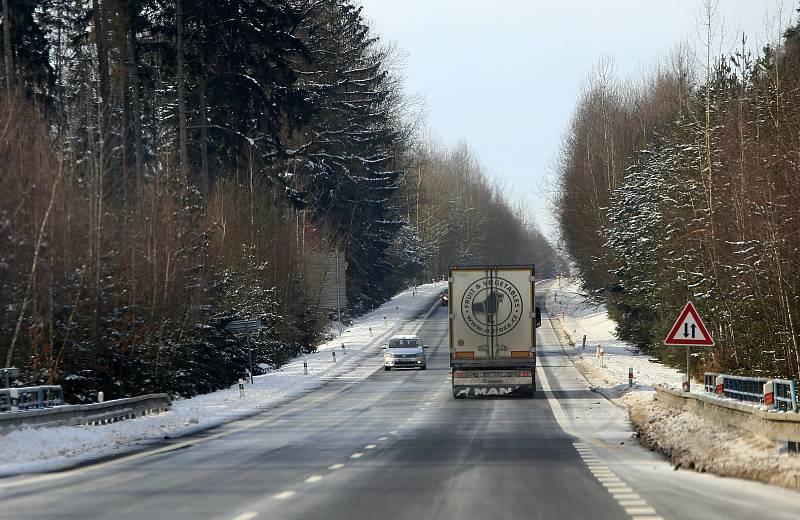 Situace na hraničním přechodu Pomezí nad Ohří
