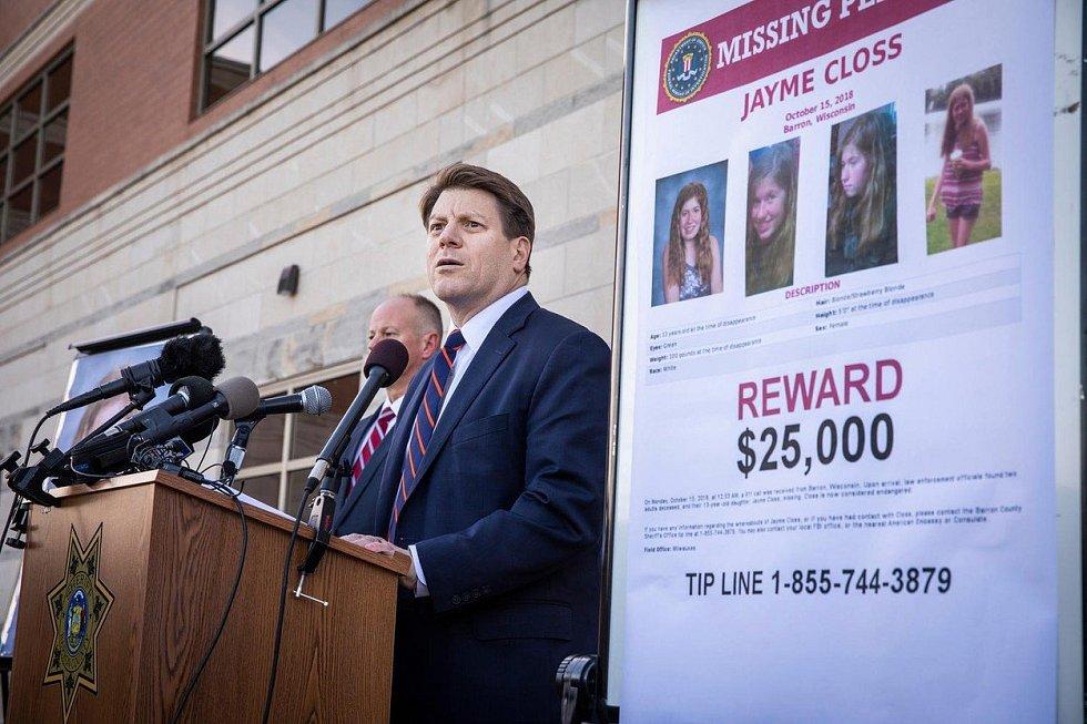 Pátrání po unesené třináctileté Jayme Clossové