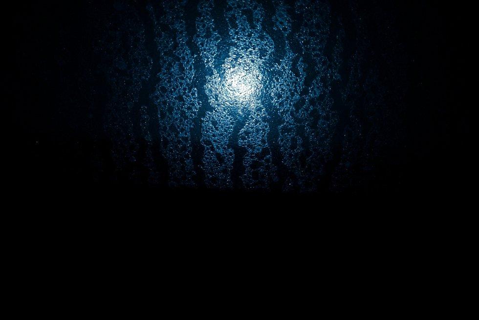 Modrý úplněk nad Opavou