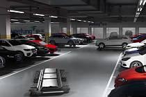 Čínský robot má vyřešit problémy s parkováním i parkovacím místem.
