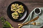 Rýžové placičky s tuňákem a olivami