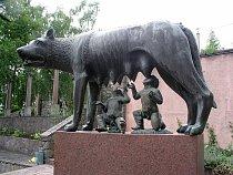 Romulus a Remus kojení vlčicí