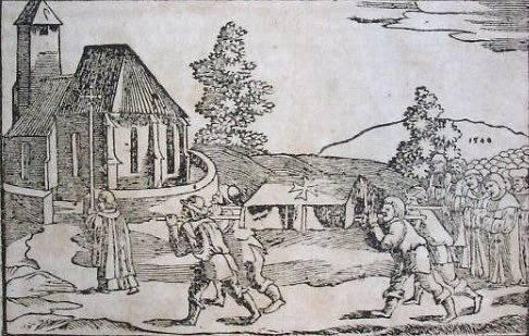 Pohřeb Václava II. (Hájkova kronika)