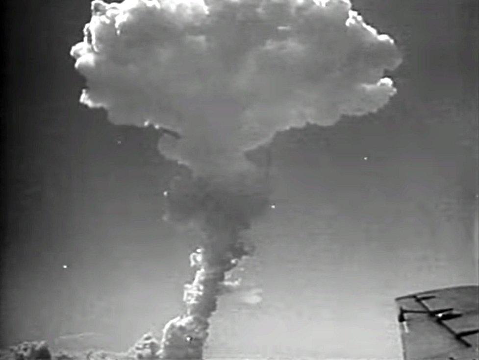 Britský jaderný test Grapple 2, provedený 31. května 1957