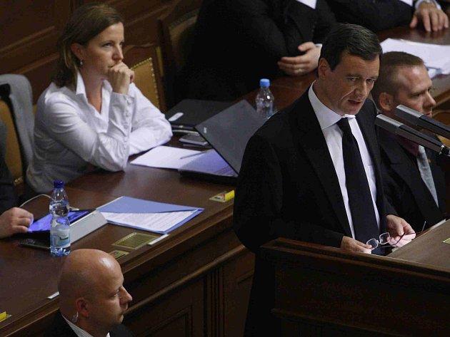 David Rath při svém projevu ve sněmovně