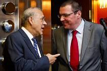 Briefing generálního tajemníka Organizace pro hospodářskou spolupráci a rozvoj (OECD) Ángela Gurríi a guvernéra ČNB Miroslava Singera po jejich setkání 18. března v Praze.