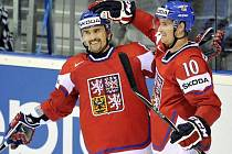 Tomáš Plekanec (vlevo) s Romanem Červenkou.