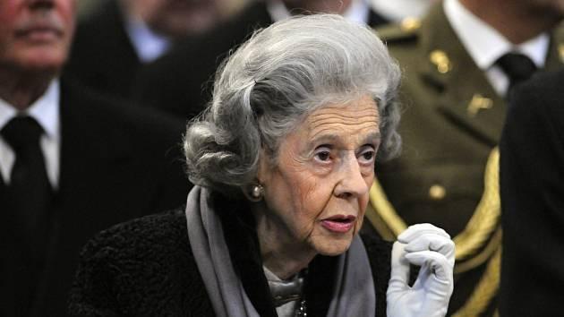 Belgická královna Fabiola.