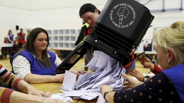 Sčítání hlasů britských voleb