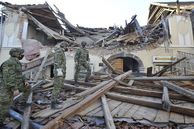 Chorvatsko zasáhlo silné zemětřesení.