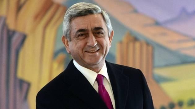Arménský prezident Serž Sargsjan.