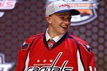 Jakub Vrána při draftu NHL.
