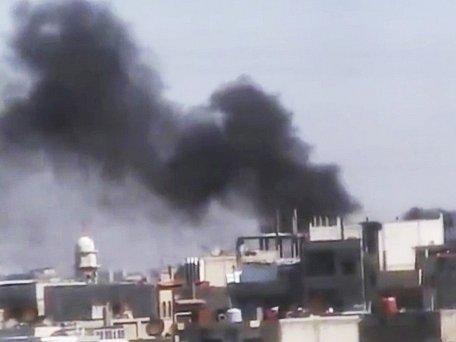 Boje v Homsu. Ilustrační foto