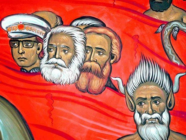 O umístění komunistických představitelů do pekla roz-hodl umělec, církev za ním stojí. Veřejnost je ale rozpolcená.