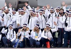 Úspěšní čeští olympionici po příletu ze ZOH v Koreji