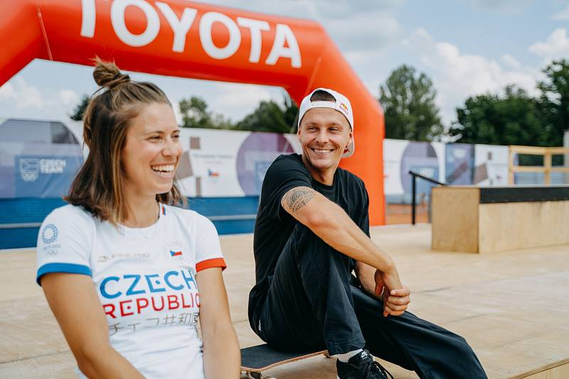 Eva Samková a Max Habanec na Olympijském festivalu