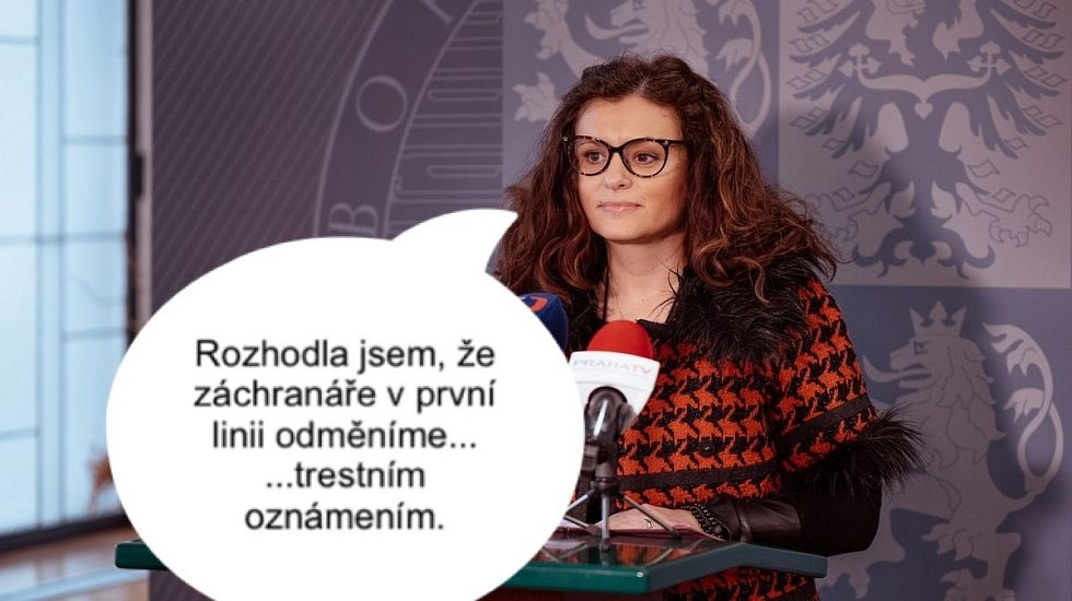 Skutečnost, že hejtmanka Středočeského kraje podala trestní oznámení na záchranářku, která si postěžovala na nedostatek zdravotních pomůcek, hodně lidí pobouřila