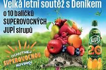 Velká letní soutěž s Deníkem o 10 balíčků SUPEROVOCNÝCH JUPÍ sirupů.