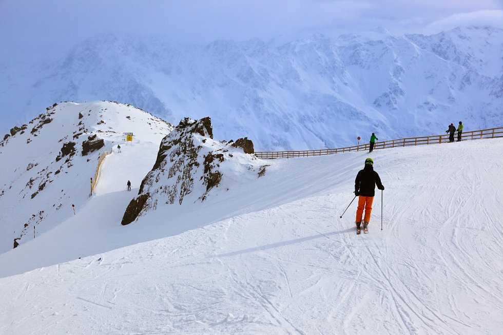 Lyžařské středisko v Tyrolsku. Ilustrační snímek