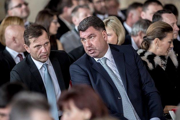Inaugurace prezidenta Miloše Zemana pro jeho druhé funkční období probíhala 8. března ve Vladislavském sále Pražského hradu. Jaromír Soukup, Martin Nejedlý