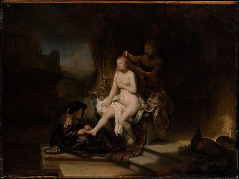 Rembrandt, Batšebina toaleta, Metropolitní muzeum umění