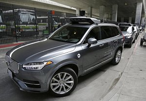 Samořiditelné auto firmy Uber