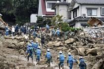 Sesuv půdy v Hirošimě.